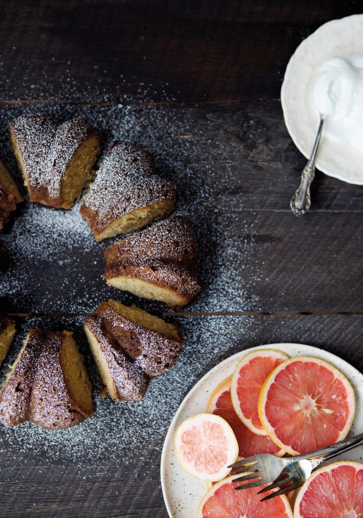 Grapefruit-soaked cake