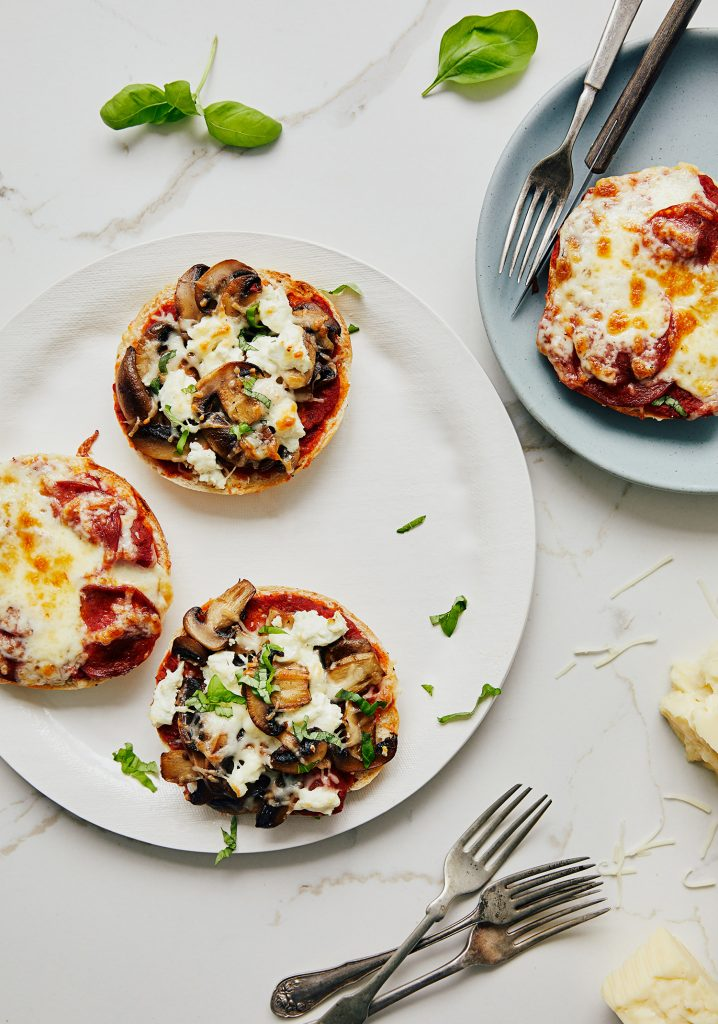 Pizzas rapides sur bagels