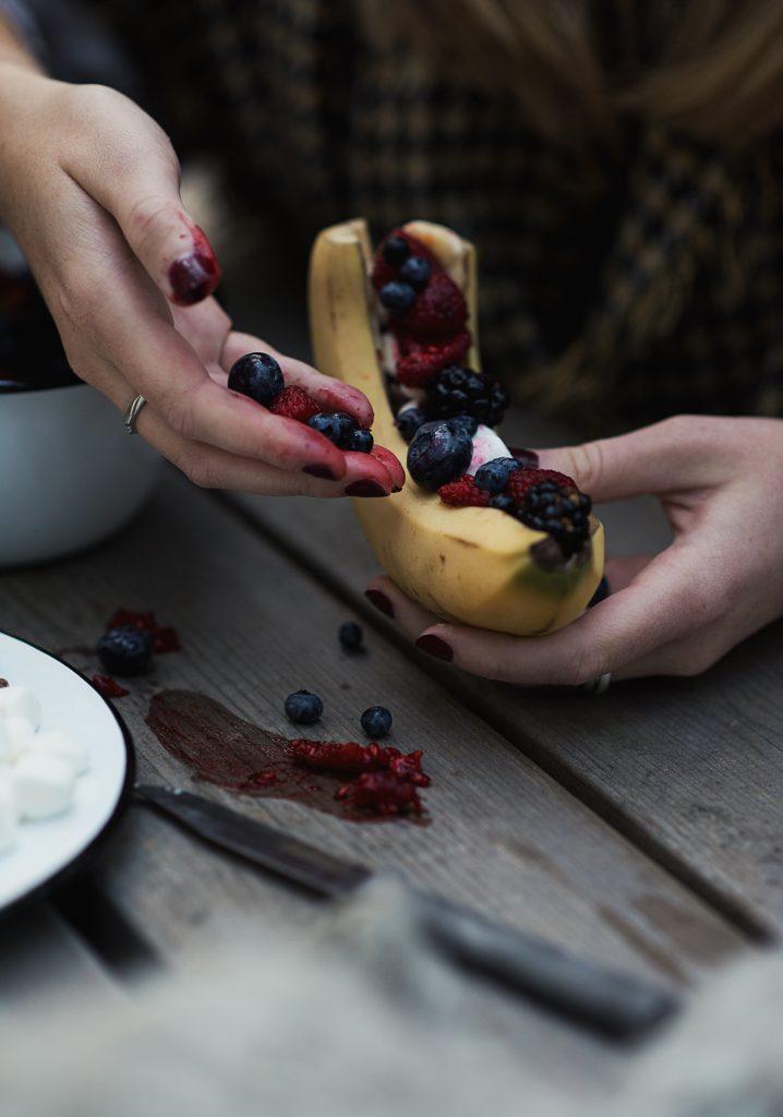Chocolate & fruit banana sub
