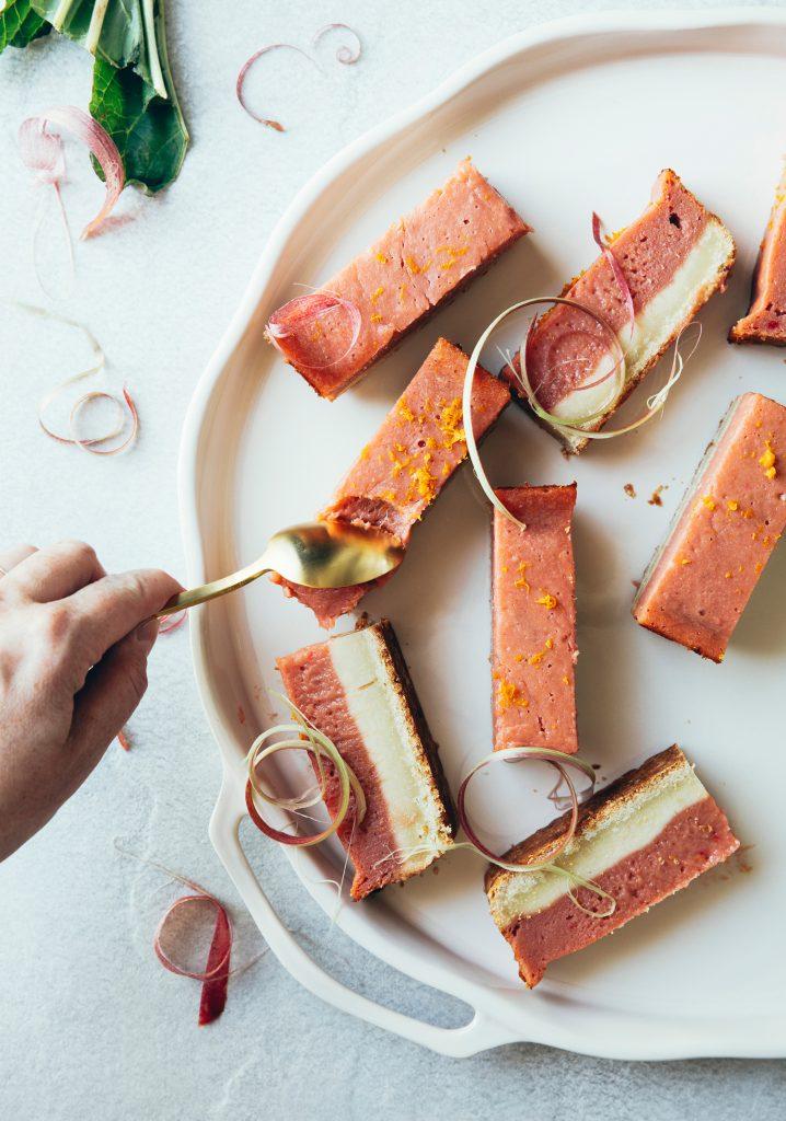 Orange rhubarb bars