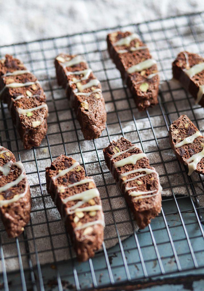 Biscottis au chocolat & pistaches
