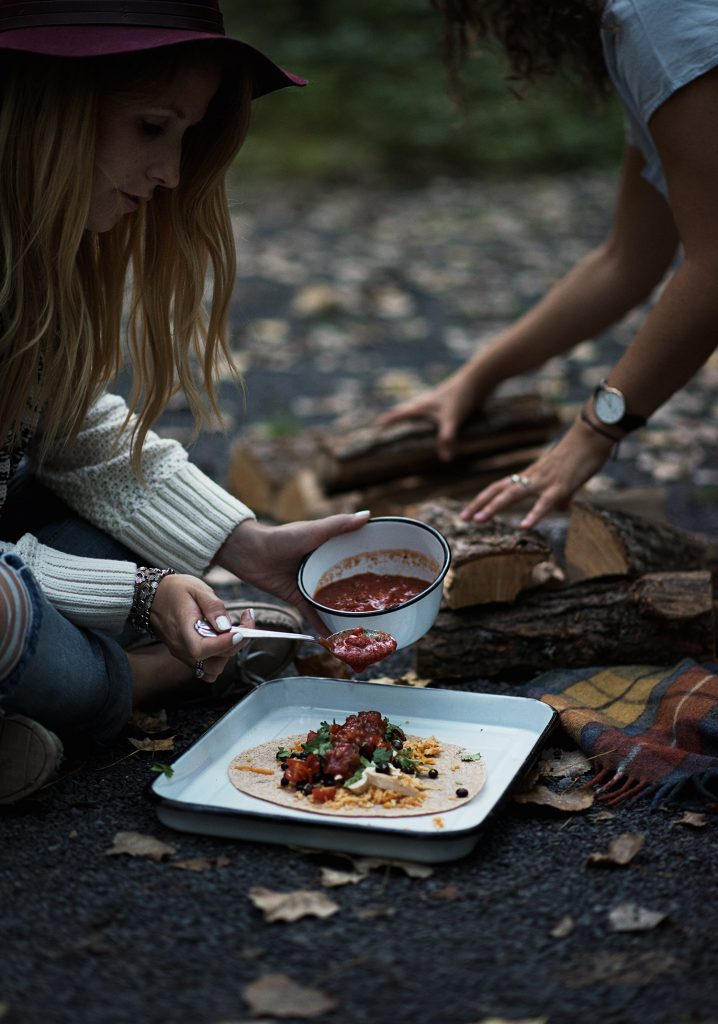 Camping burritos