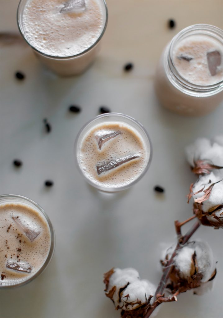 Café frappé au yogourt