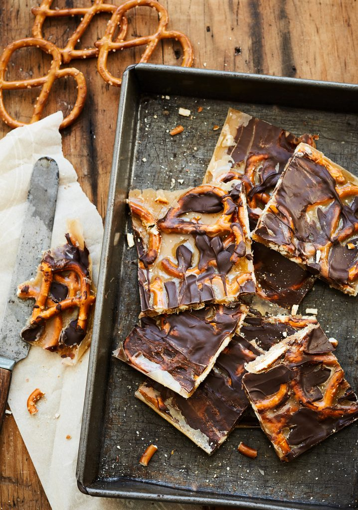 Crunchy pretzel & chocolate caramel