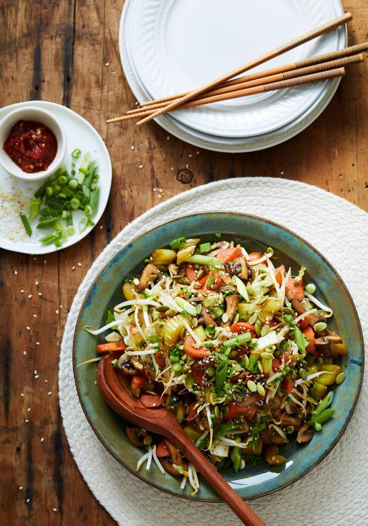 Vegetables & pumpkin seed Chop Suey