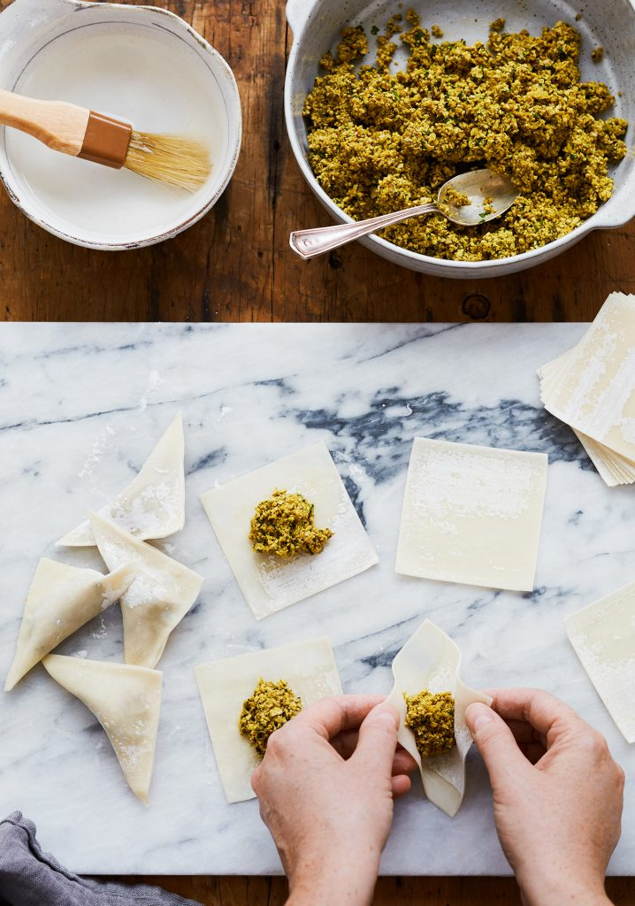 Dumplings de tofu & shiitakes