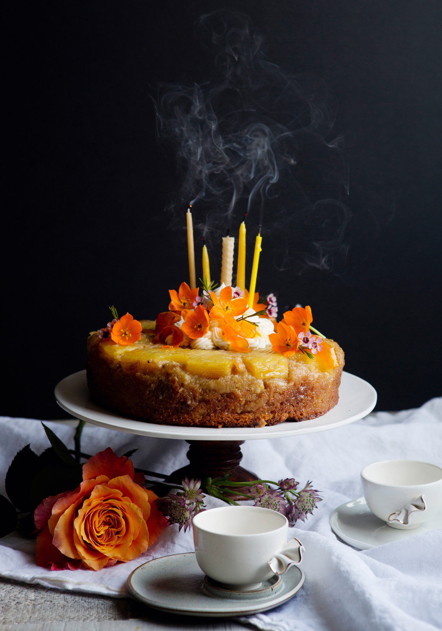 Surprising Carrot Upside Down Pineapple Cake Trois Fois Par Jour Funny Birthday Cards Online Bapapcheapnameinfo