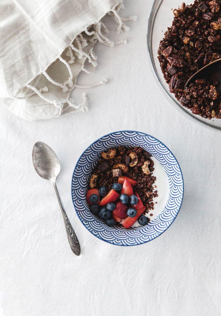 Granola maison aux noix & chocolat