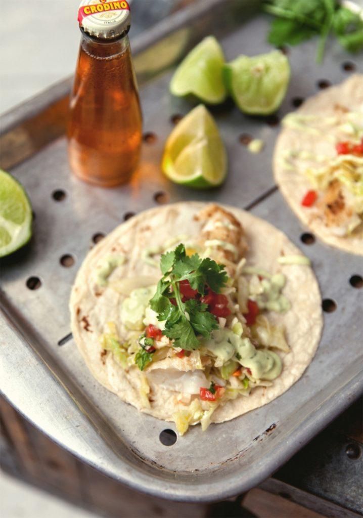 Tacos De Poisson Mayonnaise A L Avocat Autres Accompagnements