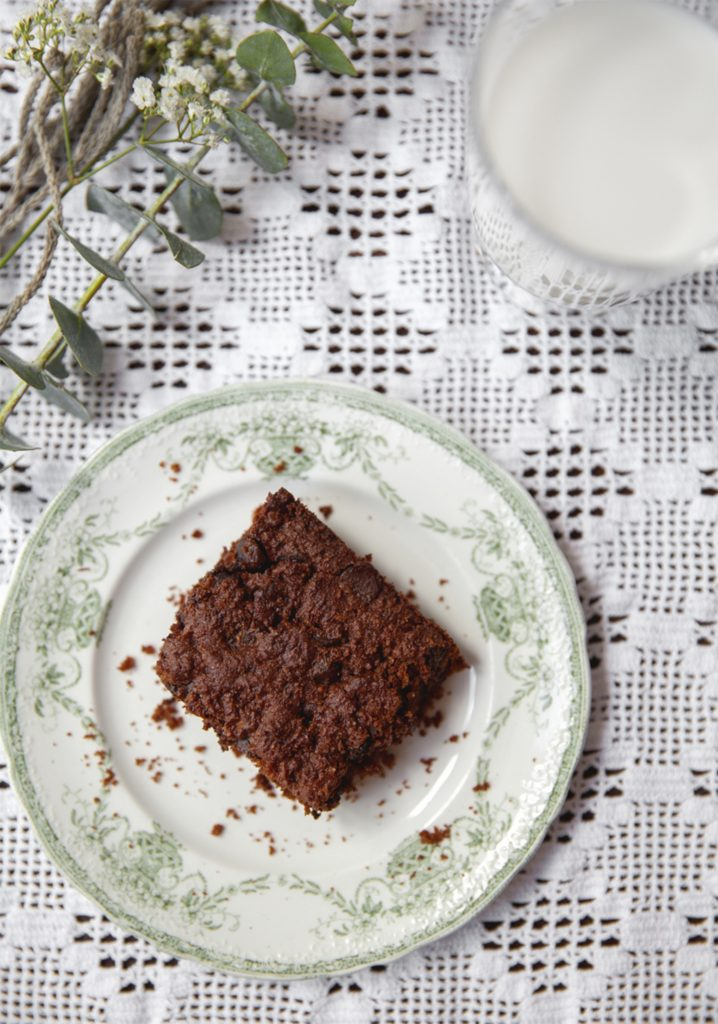 Brownie au chocolat à base de tofu