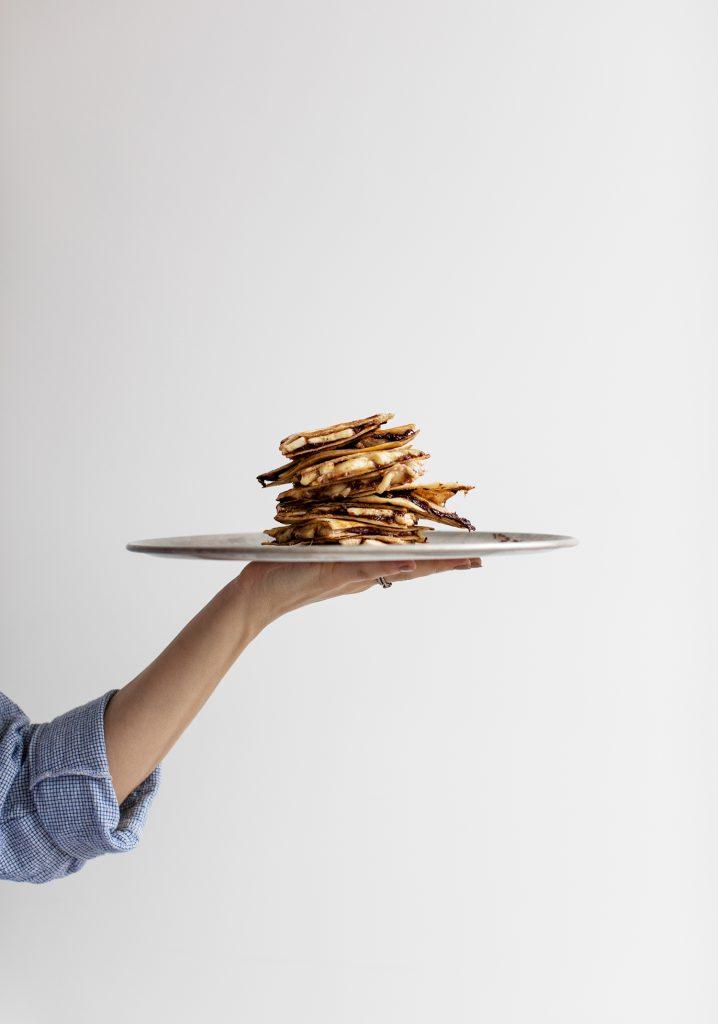 Quesadillas express à la tartinade de dattes & cacao