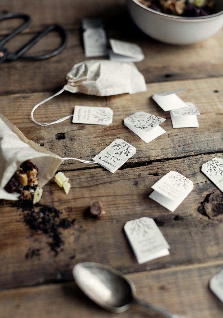 Sachets de thé maison (thé noir aux figues, gingembre et canneberges)