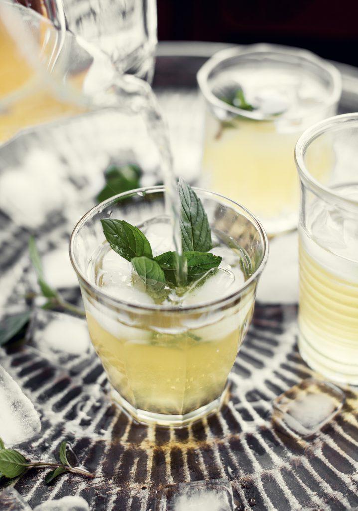Limonade à la menthe fraîche & à l'érable