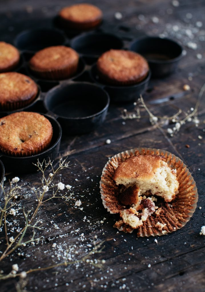 Mashed potatoes, cranberries & almond muffins