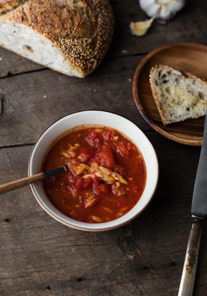 Tomato & orzo soup