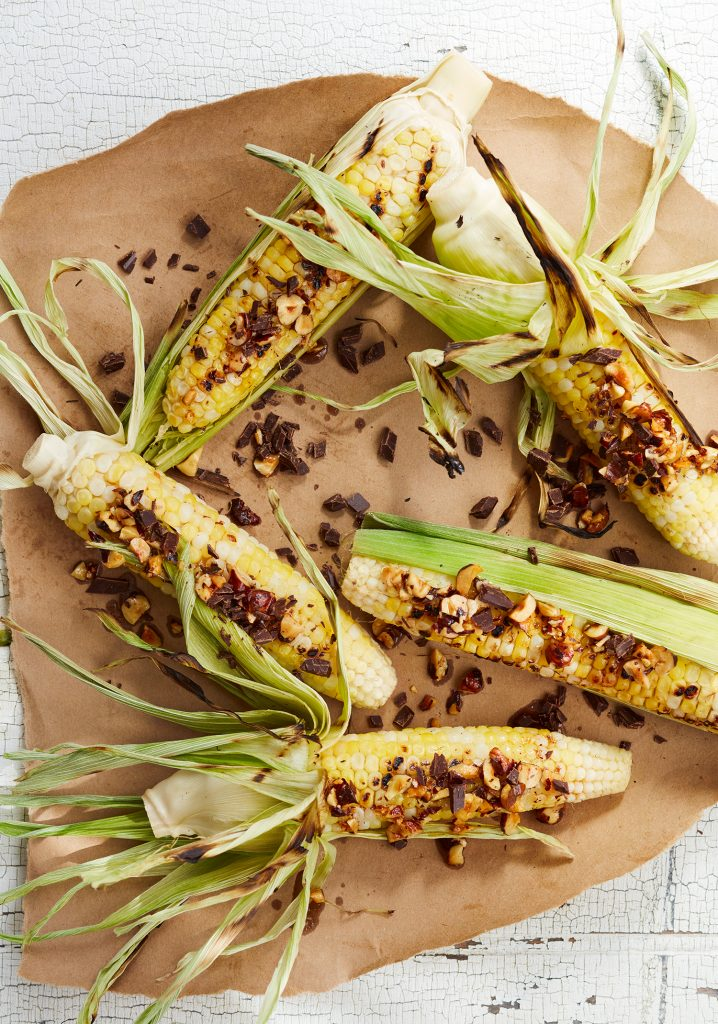 Dark chocolate & hazelnut corn on the cobb toppings