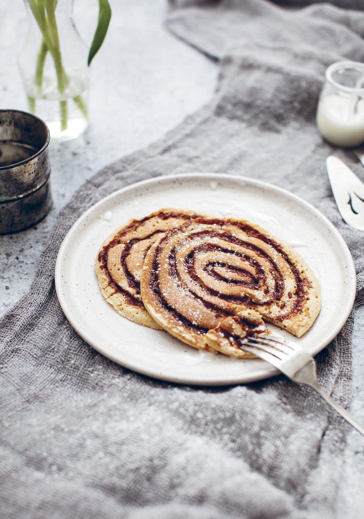 Pancakes au tourbillon de caramel à la cannelle