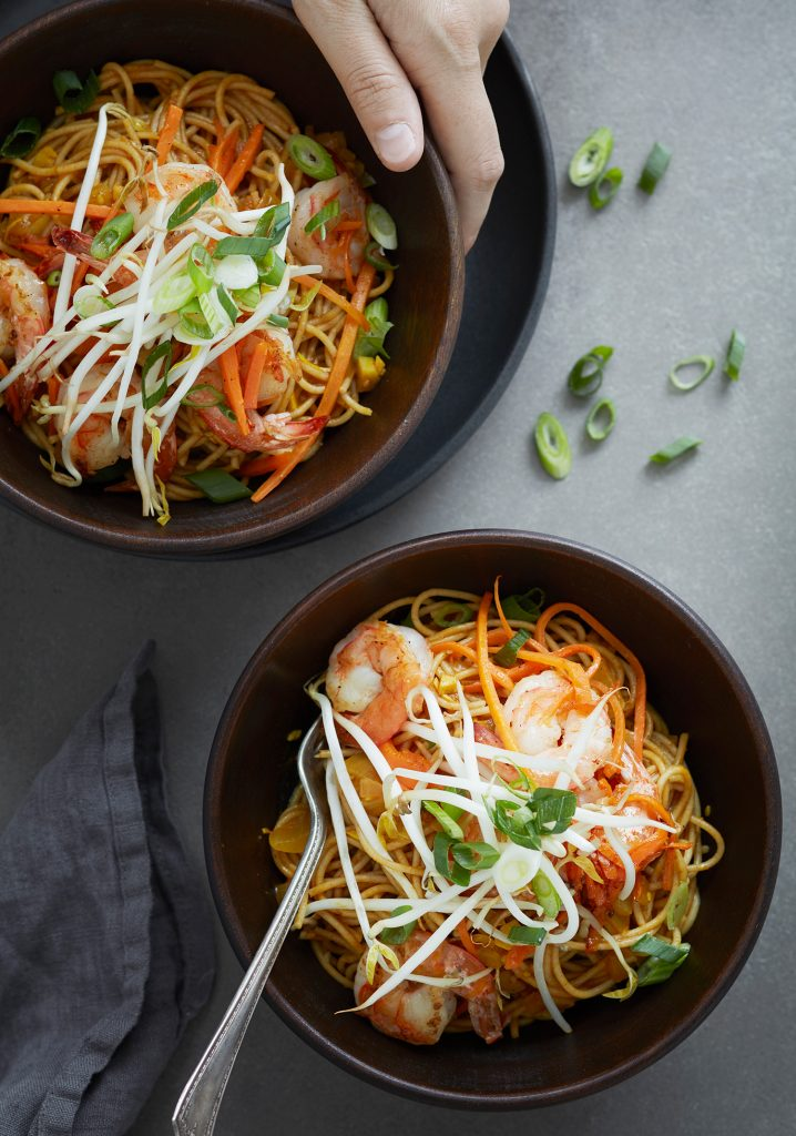Shrimp & butter sauce spaghettini