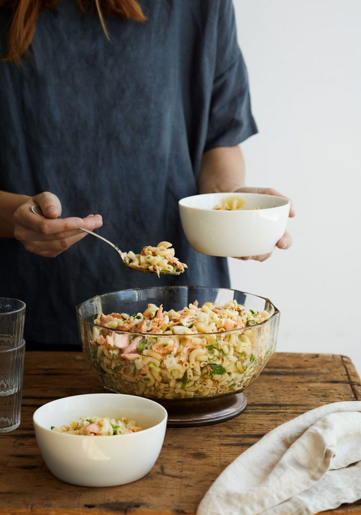 Salade de macaroni au saumon & au fenouil