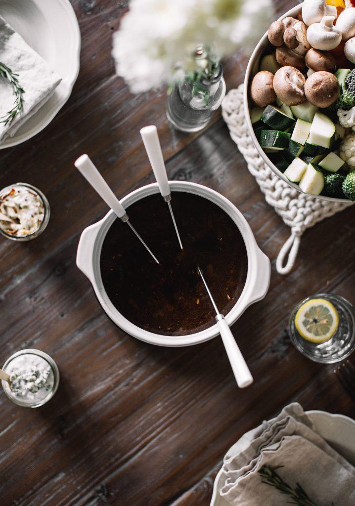 Bouillon à fondue végétarien