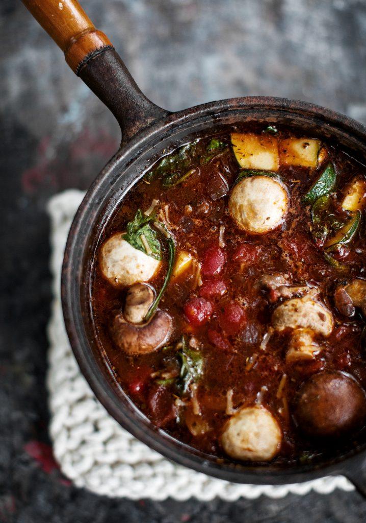 Soupe après-fondue à l'italienne