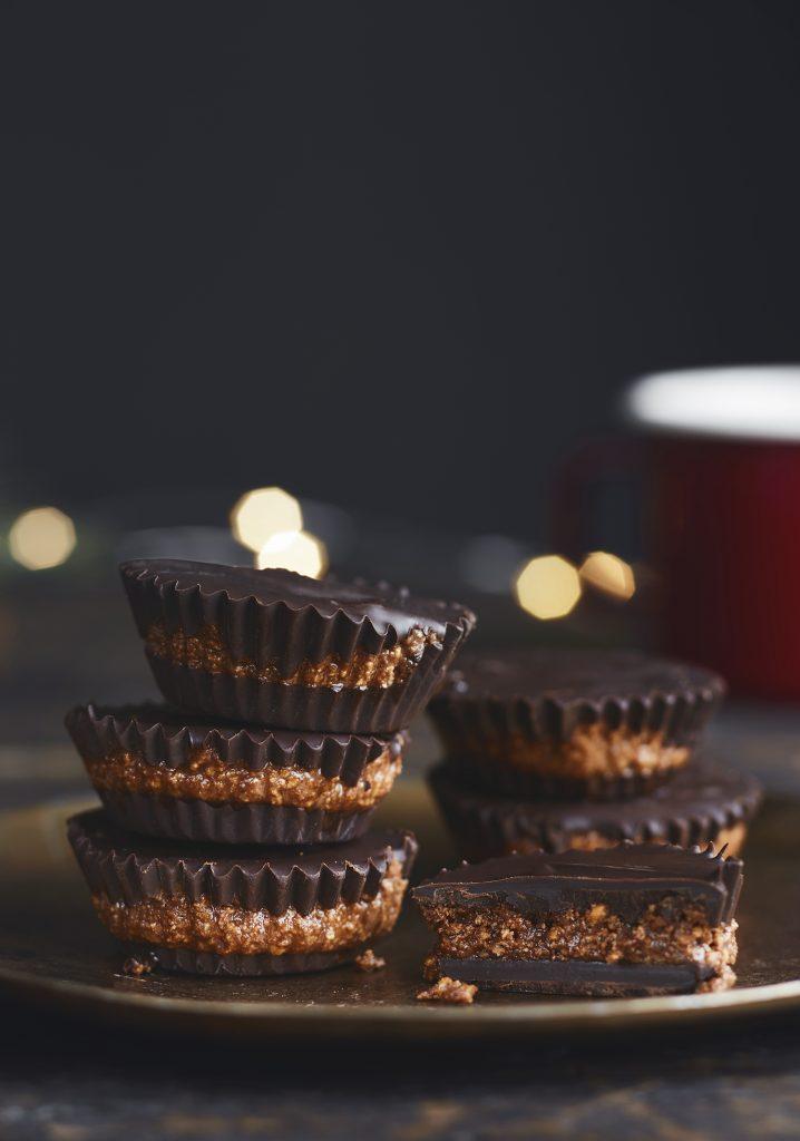Bouchées au chocolat noir & au beurre de noisette