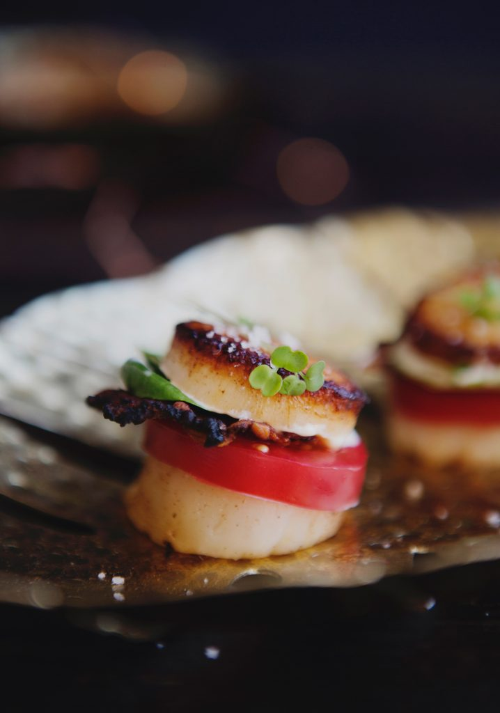 BLT scallop appetizers
