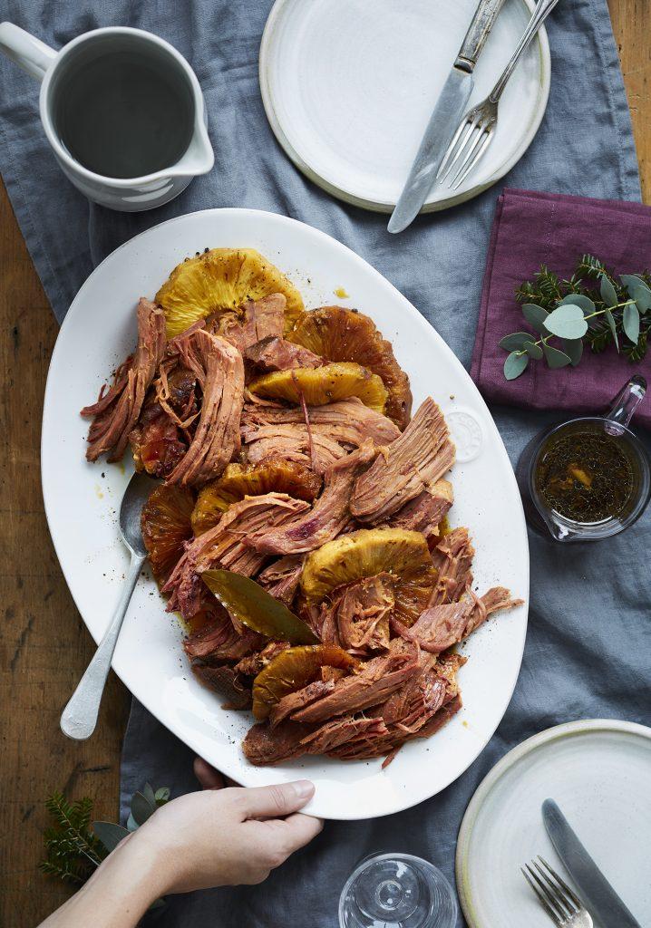 Jambon picnic l ananas au miel la mijoteuse trois fois par jour - Conservation ananas coupe ...