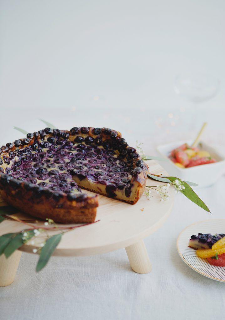Clafoutis aux bleuets & salade d'agrumes