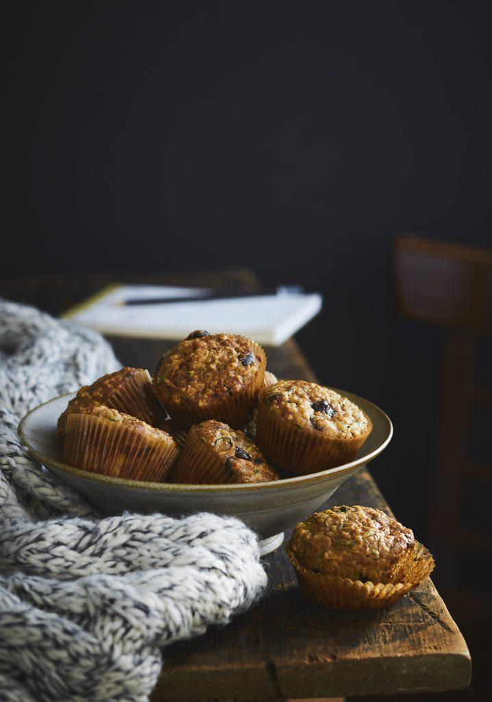 Muffins aux courgettes & au chocolat