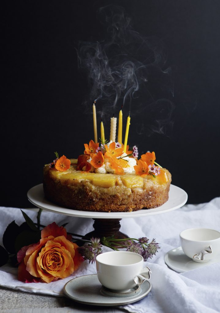 Gâteau aux carottes renversé à l'ananas