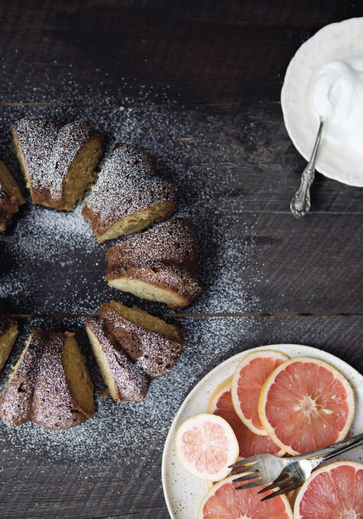 Gâteau imbibé au pamplemousse