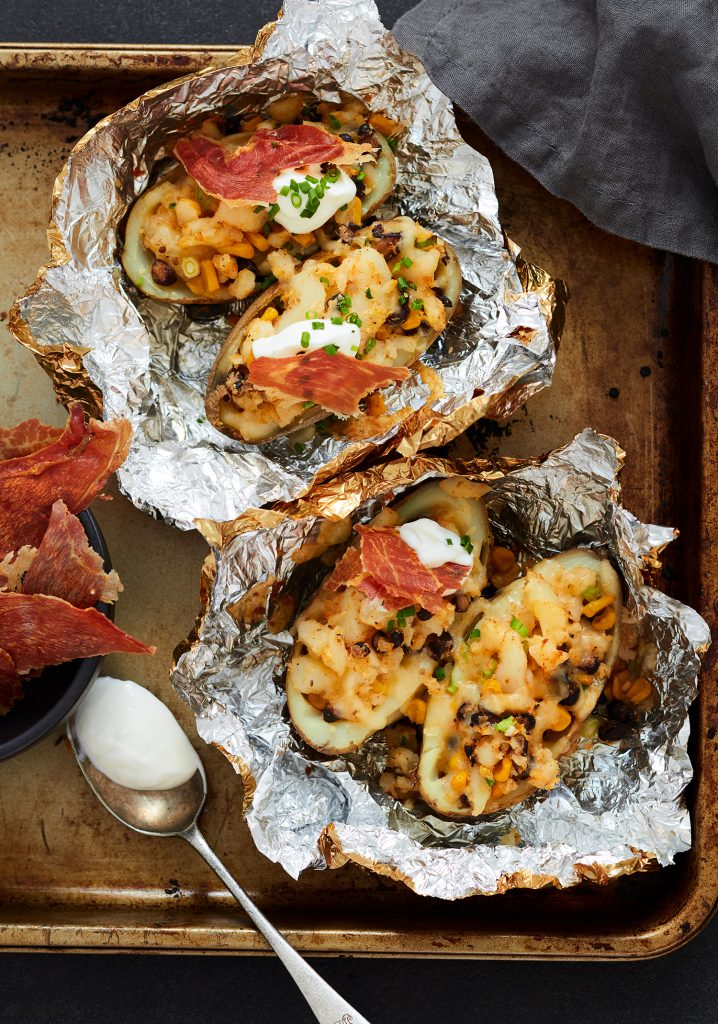 Mexican style stuffed potatoes