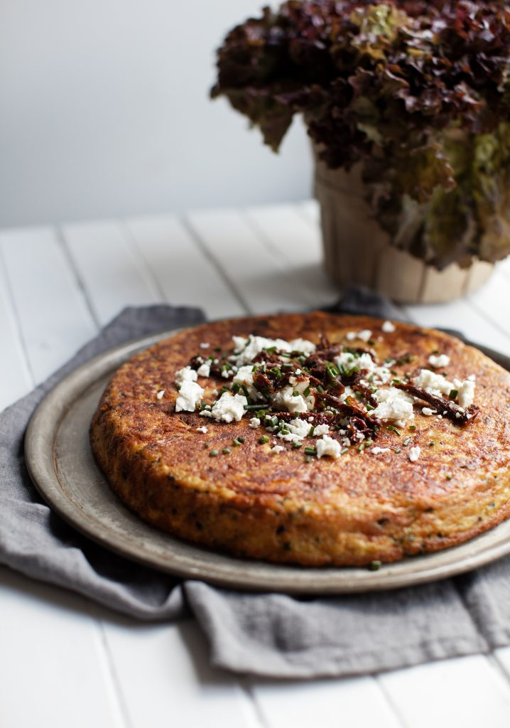 Sweet potatoe, quinoa & feta tortilla