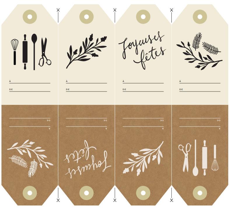 Etiquette Menu De Noel A Imprimer.Etiquettes Des Fetes Trois Fois Par Jour