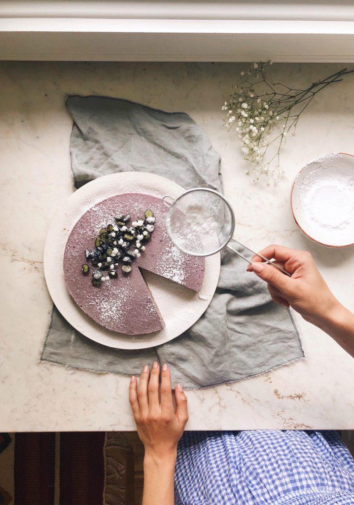 Gâteau au fromage & aux bleuets sans cuisson