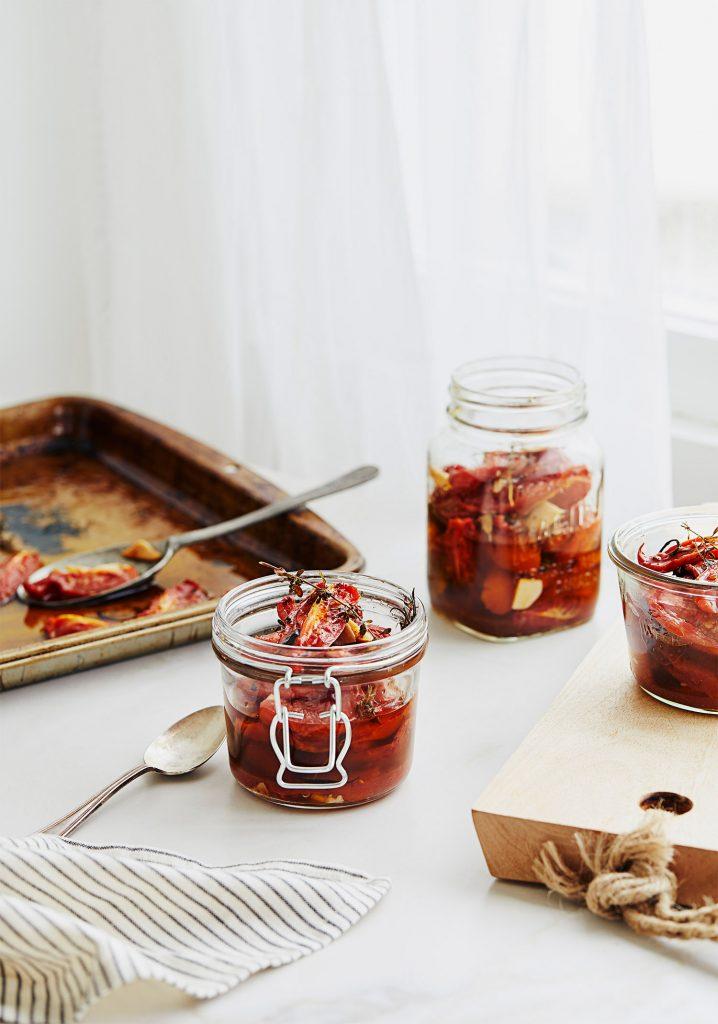Tomates italiennes confites à conserver