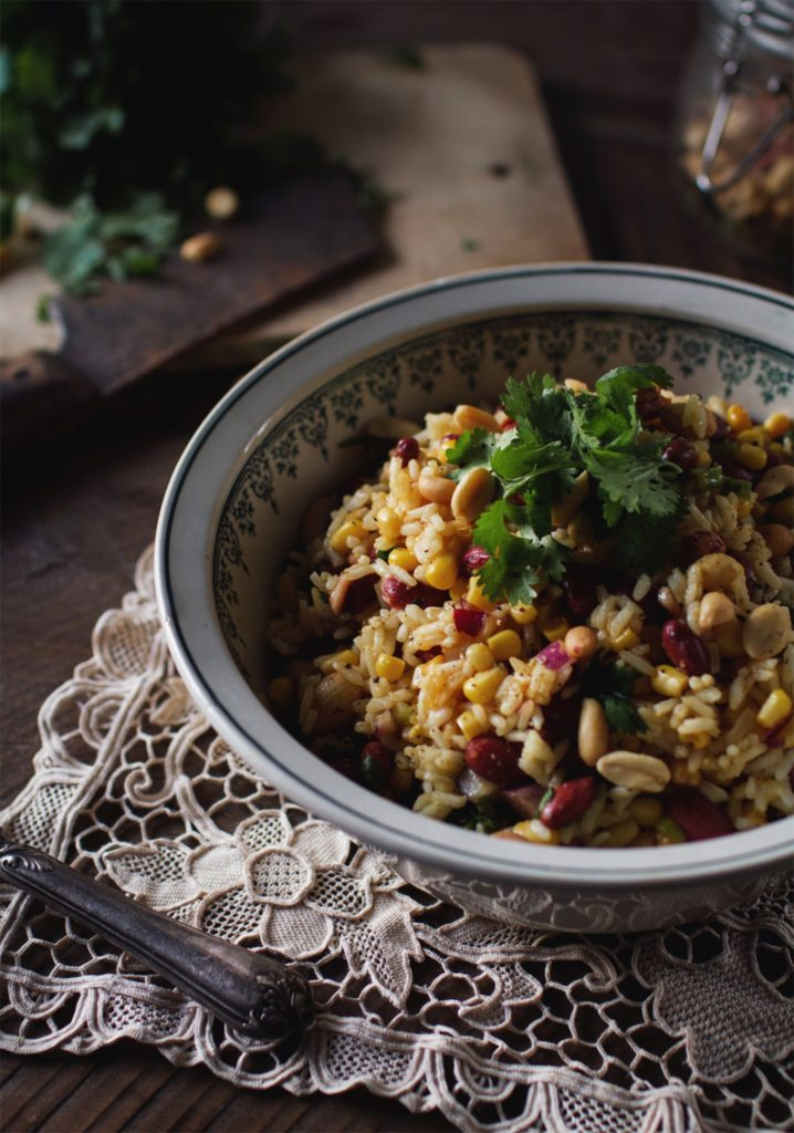 Mexican-style rice salad