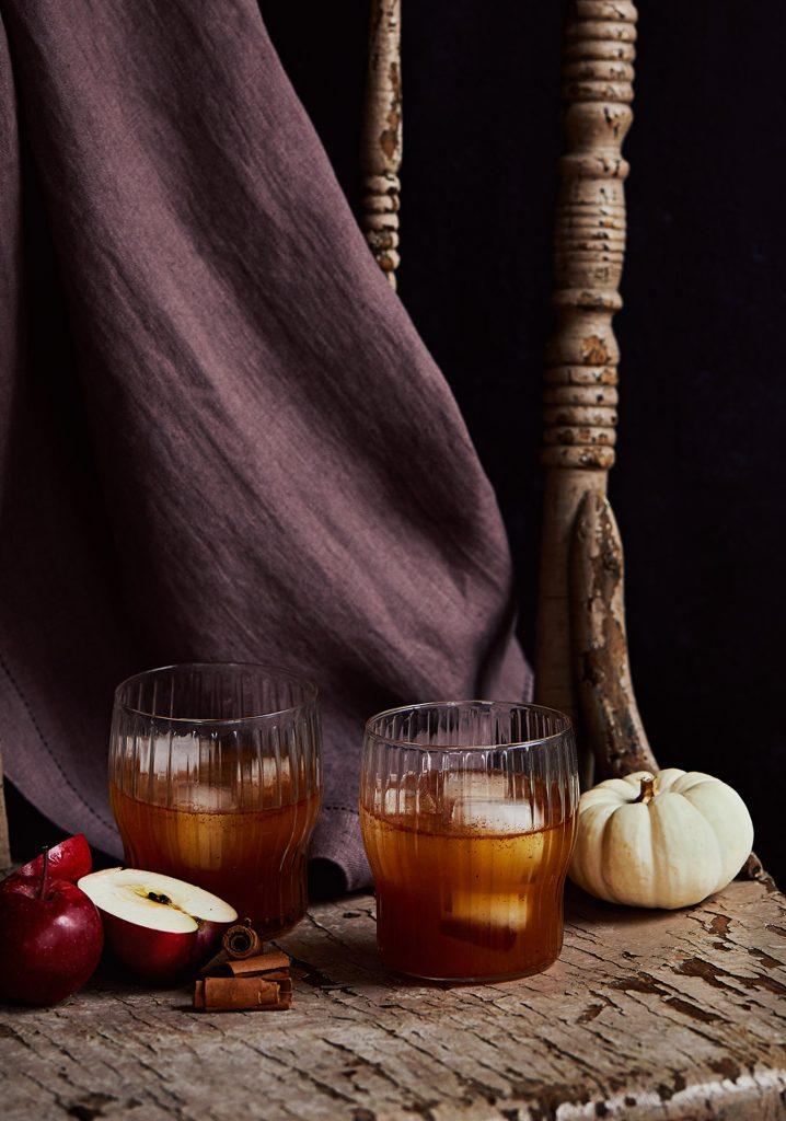 Mocktail d'automne aux pommes épicé