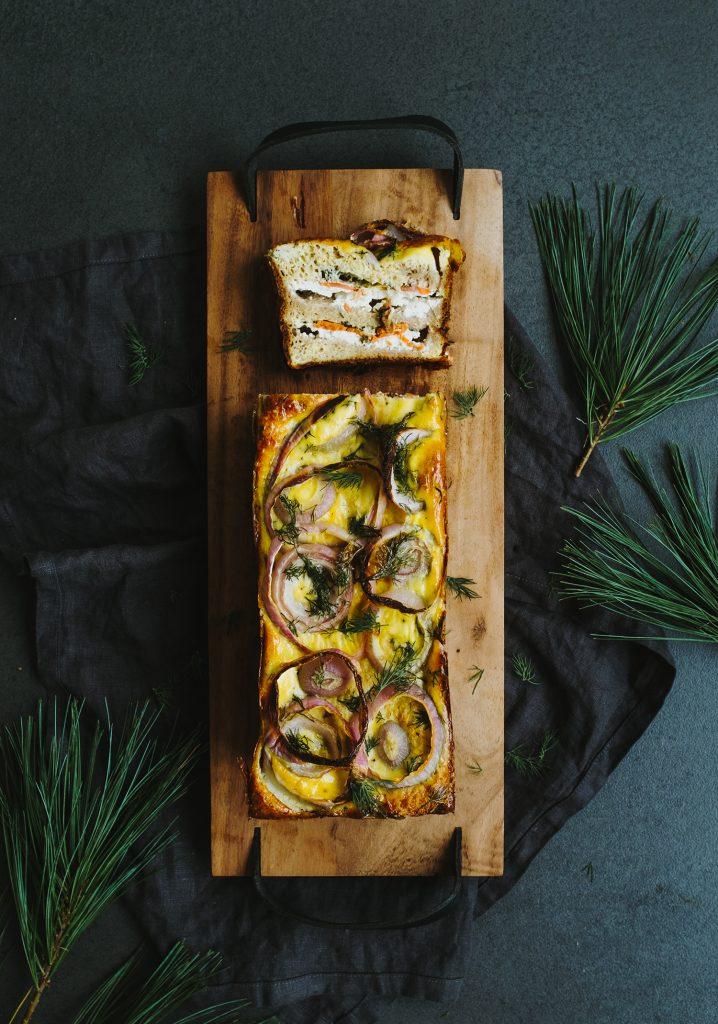 Stratta au saumon fumé & au fromage à la crème