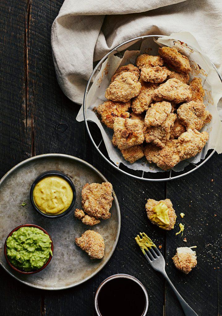 Croquettes de poulet au four de Marilou & 3 sauces à tremper