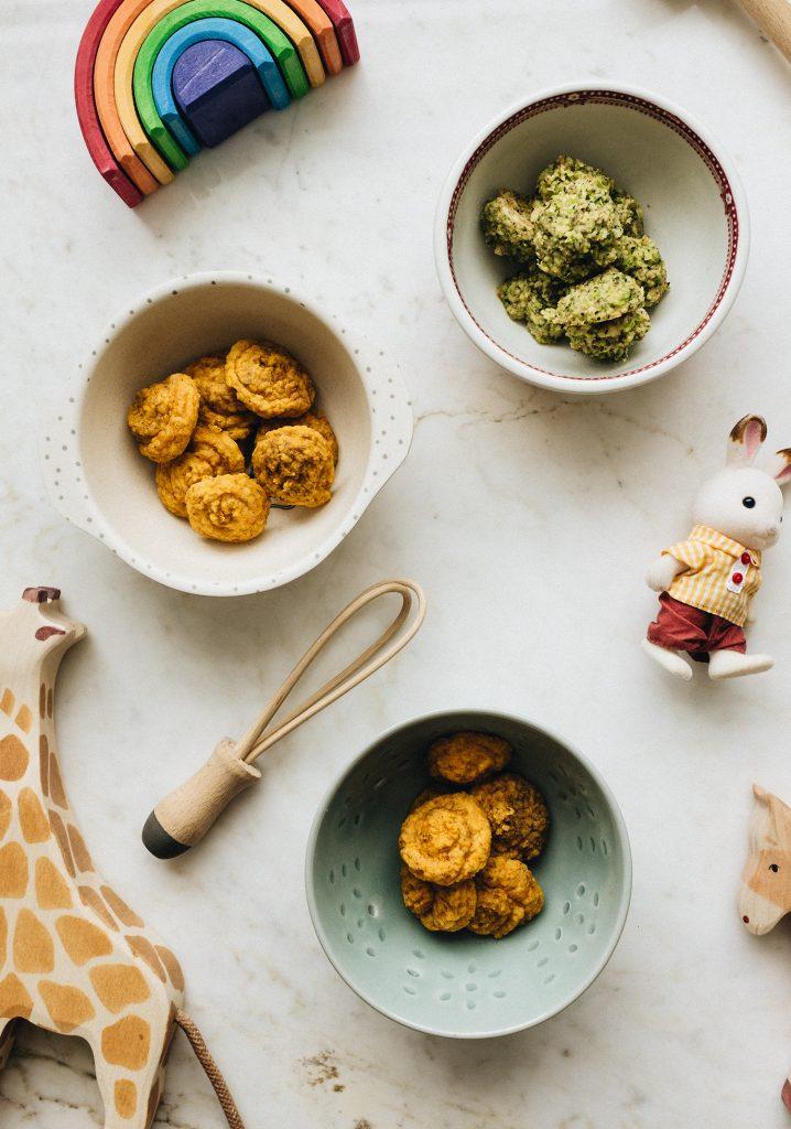 Croquettes pour bébés au tofu & aux légumes