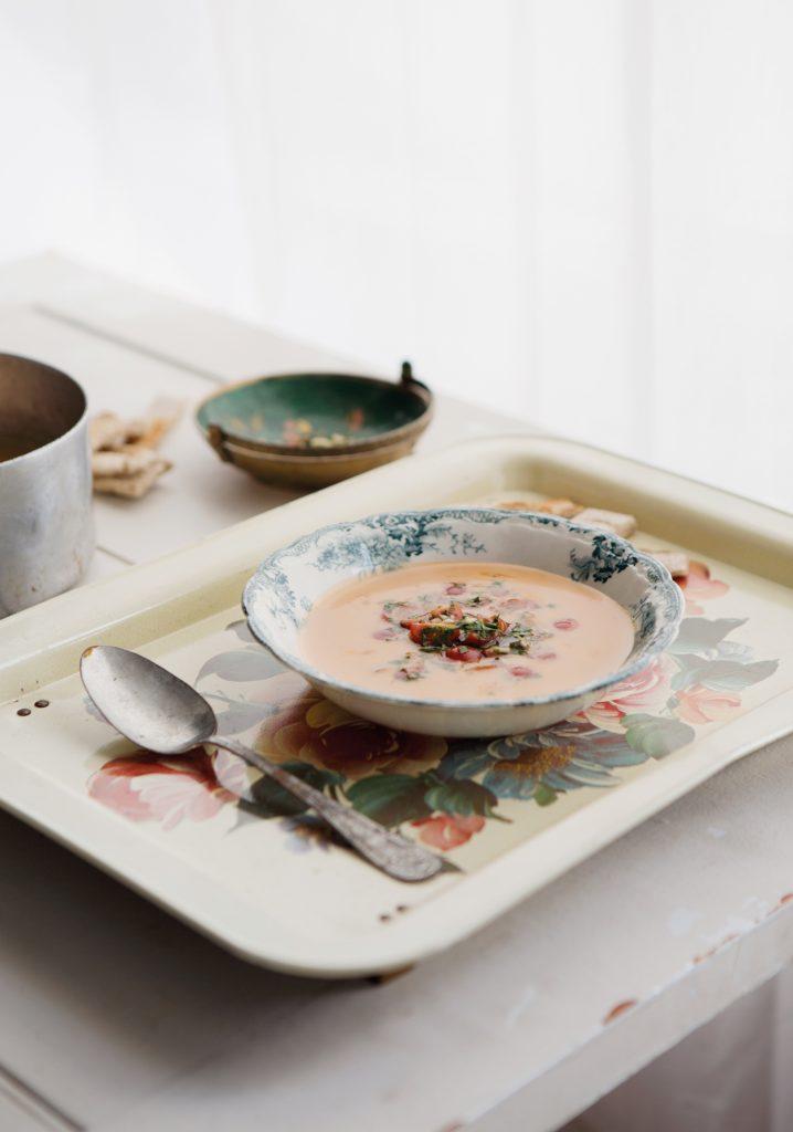Crème de homard & gremolata de tomates cerises
