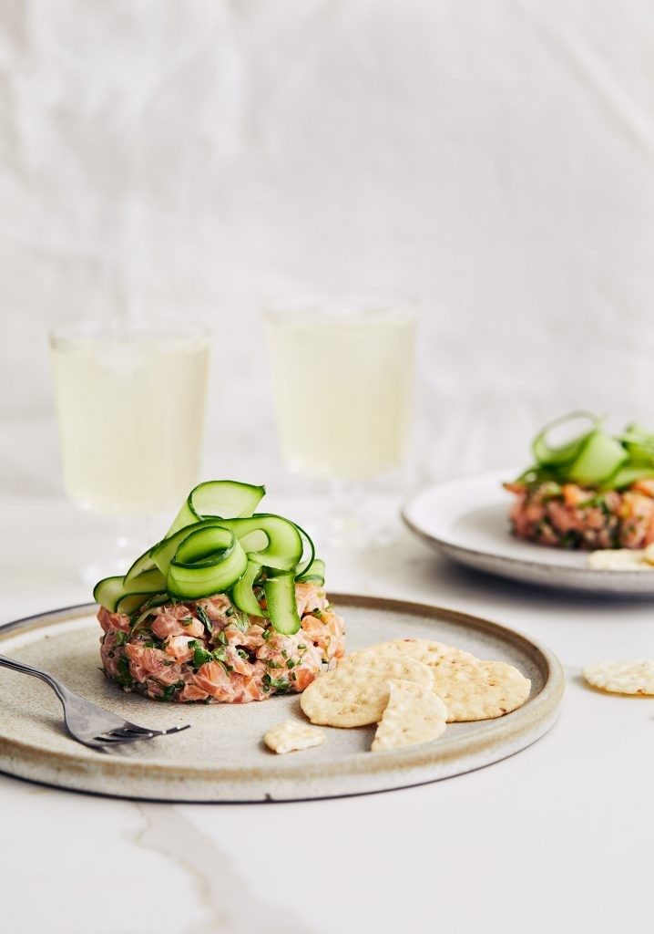Tartare de saumon au gingembre & au sésame