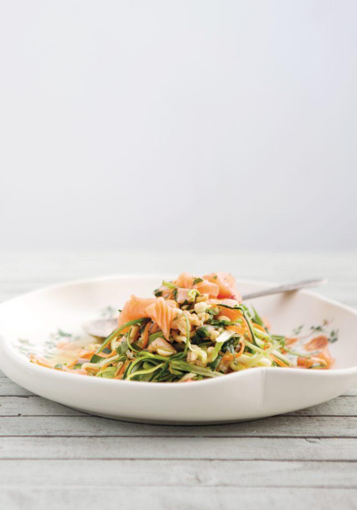 Tagliatelles de légumes & saumon thaï