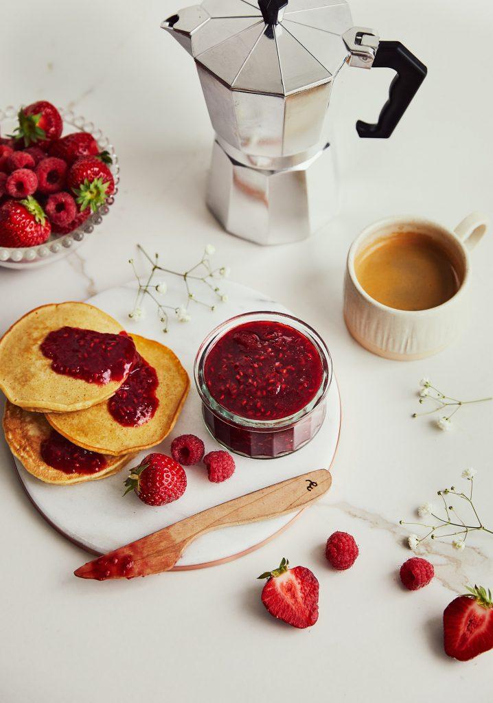 Confiture de fraises & de framboises à l'érable