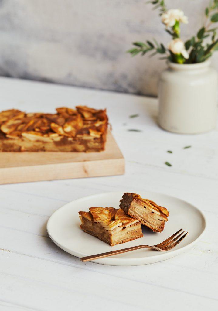 Gâteau invisible aux pommes & à la mélasse