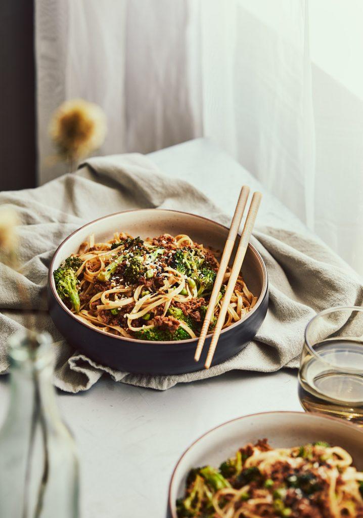 Sauté asiatique à la protéine végétale texturée (PVT)