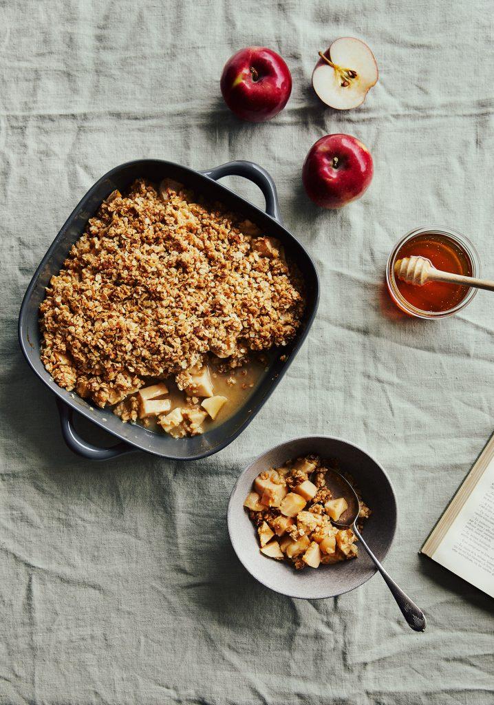 Croustade aux pommes & sauce au miel
