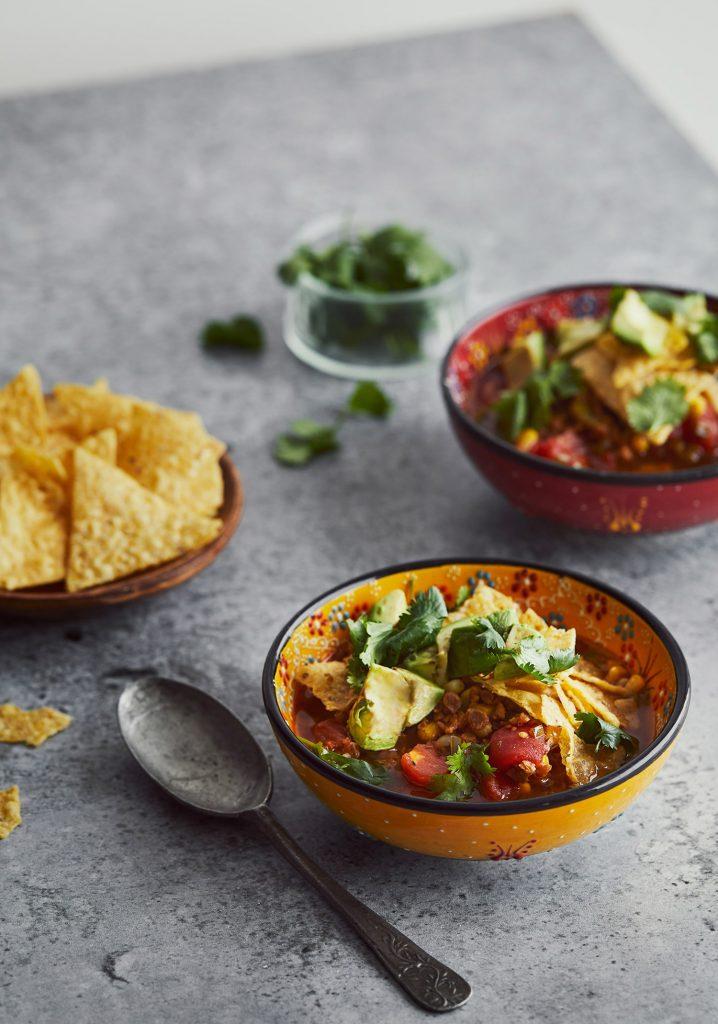 Soupe-repas mexicaine au sans-viande haché